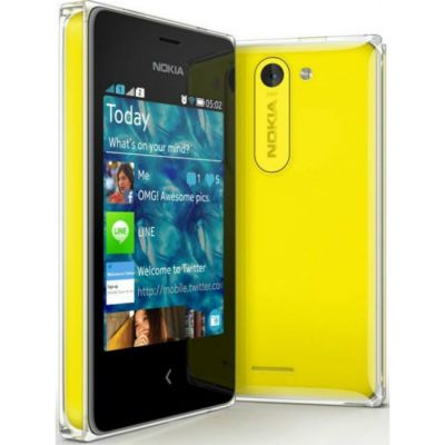 Смартфон Nokia Asha 502 Dual SIM (Yellow)