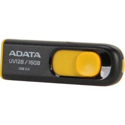 Флешка ADATA 16GB UV128 (черный/желтый) AUV128-16G-RBY