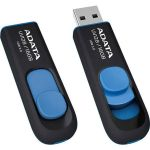 Флешка ADATA 16GB UV128 (черный/синий) AUV128-16G-RBE