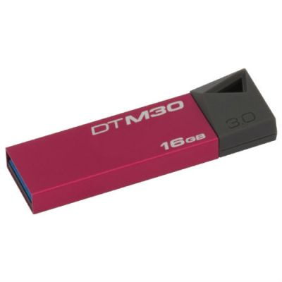 Флешка Kingston 16GB DataTraveler Mini (красный) DTM30R/16GB