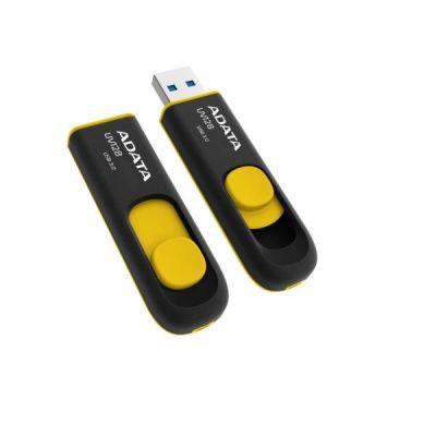 Флешка ADATA 64GB UV128 (черный/желтый) AUV128-64G-RBY