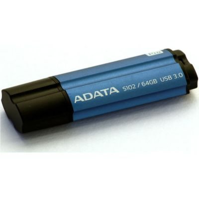 Флешка ADATA 64GB S102 PRO (синий алюминий) AS102P-64G-RBL