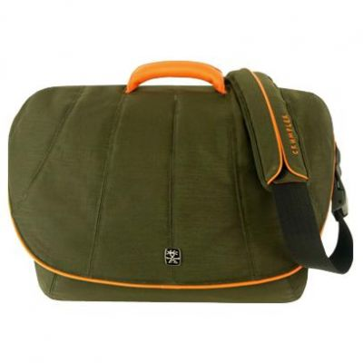 "����� Crumpler ����� Beancounter 17"" bl.olive/dk.orange leather BEA-003"