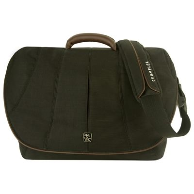 "Сумка Crumpler Сумка Beancounter 17"" dull black/lt.brown Leather BEA-001"