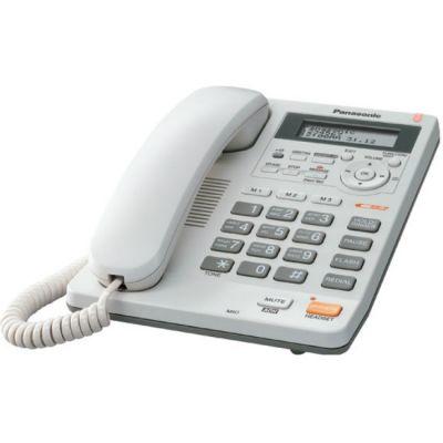 Телефон Panasonic проводной KX-TS2570RUW White