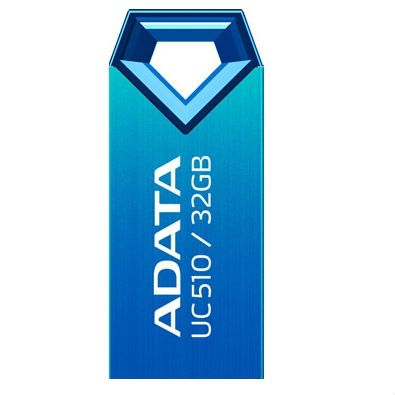 Флешка ADATA 32GB DashDrive UC510 (алюминий, Синий) AUC510-32G-RBL