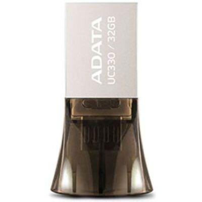 Флешка ADATA 32GB DashDrive UC330 OTG USB 2.0/MicroUSB (Серебро/Черный) AUC330-32G-RBK