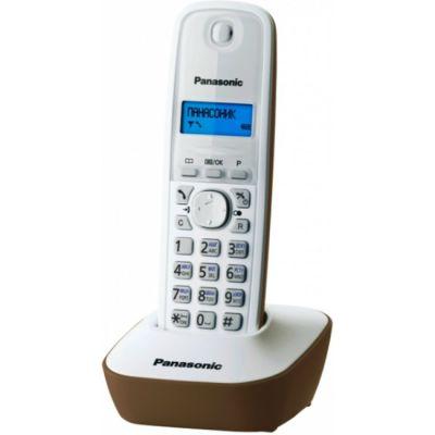 Телефон Panasonic Dect KX-TG1611RUJ (бежево- белый)