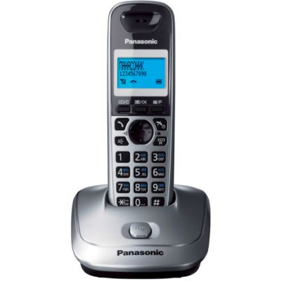Телефон Panasonic Dect KX-TG2511RUM (серый металлик)