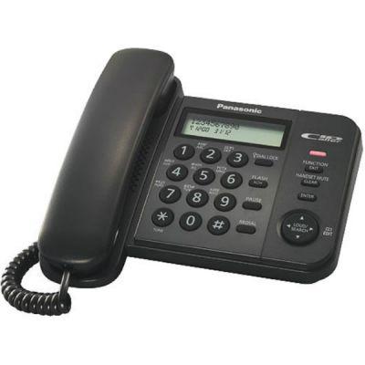Телефон Panasonic KX-TS2356RUB Black проводной