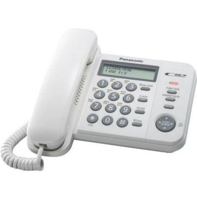 Телефон Panasonic KX-TS2356RUW White проводной