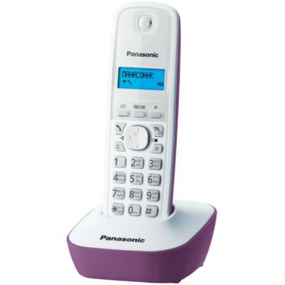 Телефон Panasonic Dect KX-TG1611RUF (фиолетово- белый)