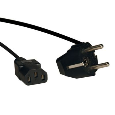 Кабель Tripplite AC Power Cord, SCHUKO CEE7/7 to C13, 250V, 10A - 6 ft. P054-006