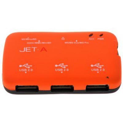 КартРидер Jet.A JA-CR4 Оранжевый + хаб на 3 порта