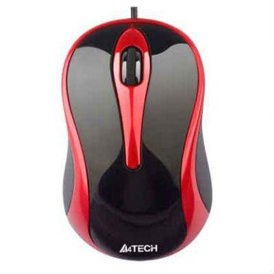 Мышь проводная A4Tech N-350 (черный/красный)