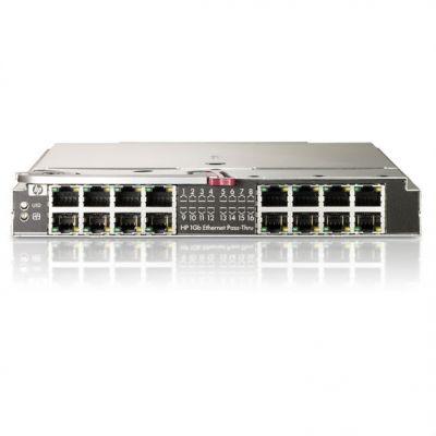 HP Транзитный модуль BladeSystem cClass 1GB Ethernet Pass Thru Module (16 RJ45 external ports) 406740-B21