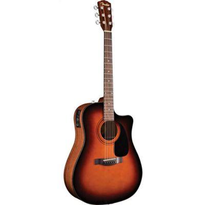 Электроакустическая гитара Fender Cd-60ce Dreadnought Brown Sunburst W/fishman® Miniq Preamp