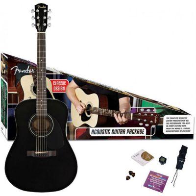 Акустическая гитара Fender с комплектом Cd-60 Dreadnought Pack, Black