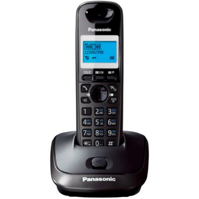 Телефон Panasonic Dect KX-TG2511RUT (темно-серый металлик/ черный)