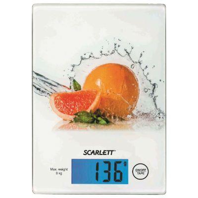 Кухонные весы Scarlett SC-1217 белый/грейпфрут