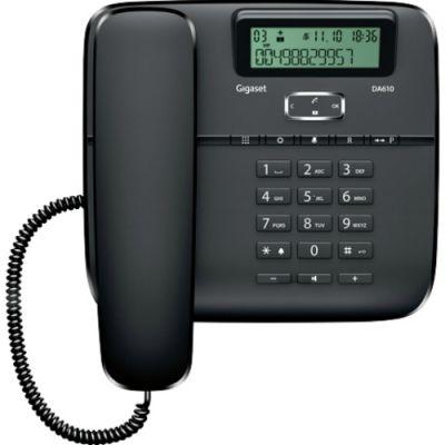 Телефон Gigaset DA610 Black проводной