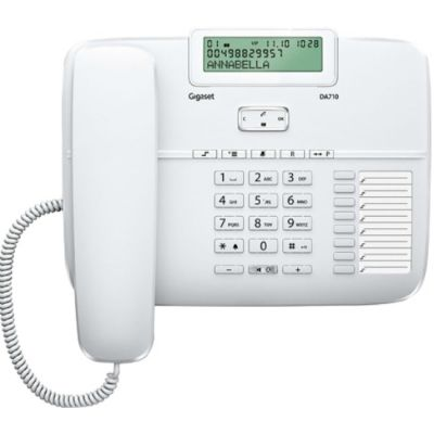 Телефон Gigaset DA710 White проводной