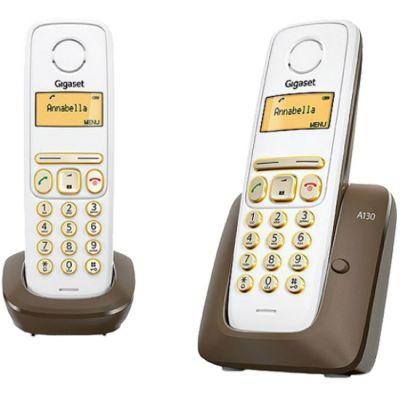 Телефон Gigaset Dect A130 DUO DARK BRAUN