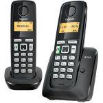 Телефон Gigaset Dect A220 DUO Black