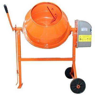 Бетоносмеситель СТРОЙМАШ СБР-120, 220 В, 700 Вт, 100/50 л, 50 кг, чугун. венец, 82002