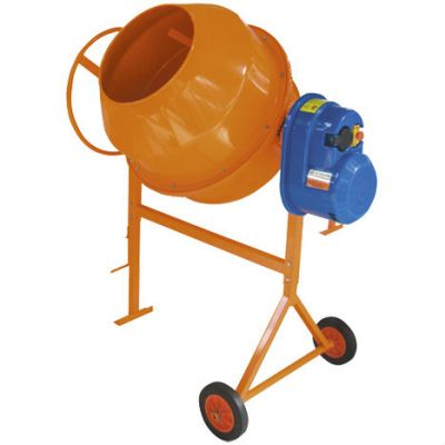 СТРОЙМАШ Бетоносмеситель СБР-170А.3, 220 В, 1.0 кВт, 170/96 л, 72.5 кг, чугун. венец, 82010