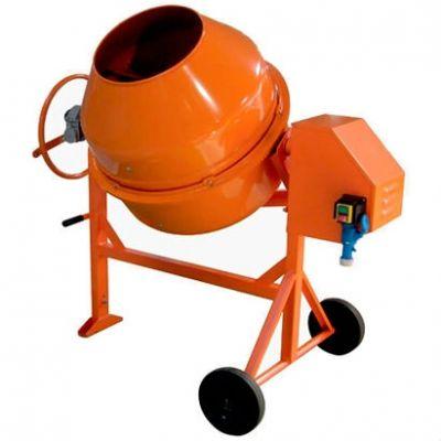 СТРОЙМАШ Бетоносмеситель СБР-260В-01, 220 В, 750 Вт, 200/150 л, 150 кг, чугун. венец, червячн. мех-м, ЛБСБР260220.В01