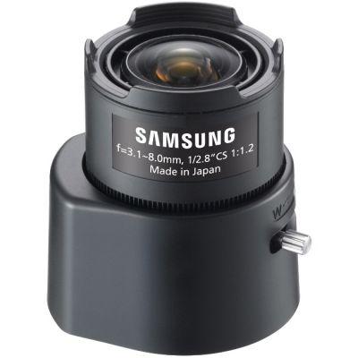 """Объектив для видеонаблюдения Samsung (3Mpix , 1/2,8"""", АРД, 3.1-8 мм, DC, F1.2-360, IR-линзы, CS, P-Iris) SLA-M3180PN"""