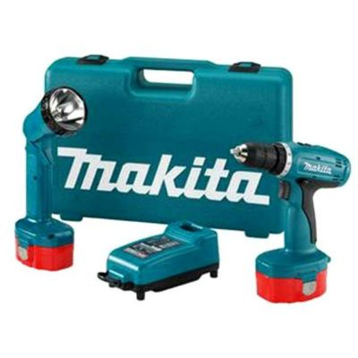Дрель Makita аккумуляторная (шуруповерт) 6271DWALE Ni-cd + кейс + фонарь