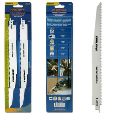 Практика Пилки для лезвийной пилы S4860DF BIM, по дер/мет/пласт, шаг 4 мм, длина 300 мм, 2 шт 773-576