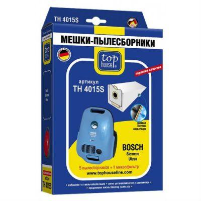 Пылесборник Top House TH 4015 S Двухслойные 5 шт.+1 м.ф. для пылесосов: Bosch, Siemens