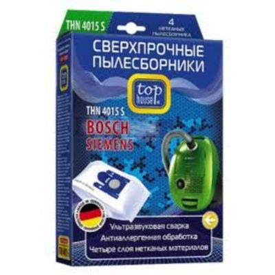 Пылесборник Top House THN 4015 S сверхпрочные нетканые 4 шт. д/пыл BOSCH, SIEMENS