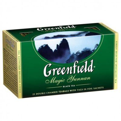 Чай Greenfield Magic Yunnan (в пакетиках, 25х2г, черный) 0356-15