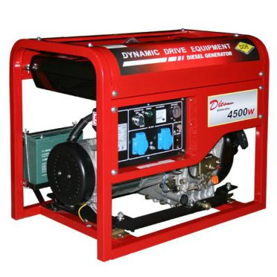 Генератор DDE дизельный DDG6000E однофазн.ном/макс.4.5/5,0 кВт (UD186, т/бак 11,5 л, электростарт, 99 кг)