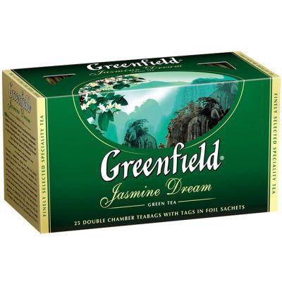 Чай Greenfield Jasmine Dream (в пакетиках, 25х2г, зеленый) 0373-15