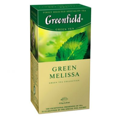 Чай Greenfield Green Melissa (в пакетиках, 25х1,5г, травяной) 0435-10