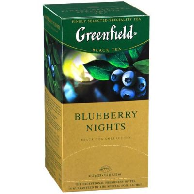 Чай Greenfield Blueberry Nights (в пакетиках, 25х1,5г, черный) 0996-10