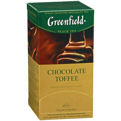 Чай Greenfield Chocolate Toffee (в пакетиках, 25х1,5г, черный) 1024-10
