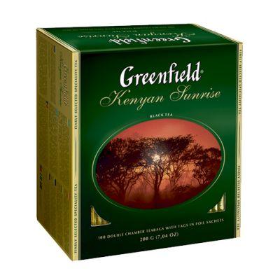 Чай Greenfield Kenyan Sunrise (в пакетиках, 100х2г, черный) 0600-09