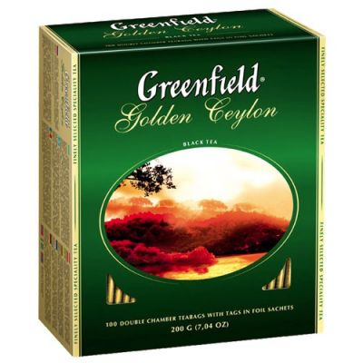 Чай Greenfield Golden Ceylon (в пакетиках, 100х2г, черный) 0581-09