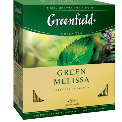 Чай Greenfield Green Melissa (в пакетиках, 100х1,5г, травяной) 0879-09