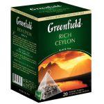 Чай Greenfield Rich Ceylon (в пирамидках, 20х2г, черный) 0898-08