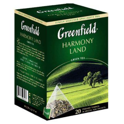 Чай Greenfield Harmony Land (в пирамидках, 20х2г, зеленый) 0903-08