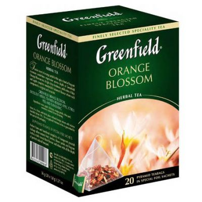 Чай Greenfield Orange Blossom (в пирамидках, 20х2г, травяной) 0906-08