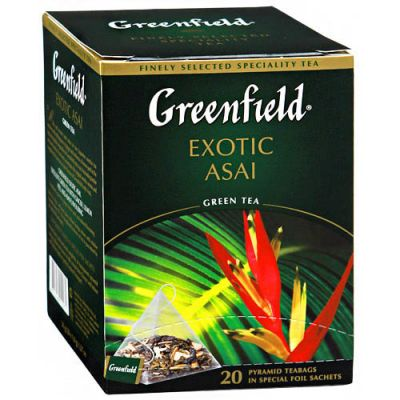 Чай Greenfield Exotic Asai (в пирамидках, 20 х1,8г, зеленый) 1023-08