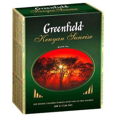 Чай Greenfield Kenyan Sunrise (в пакетиках, 100х2г, черный) 0829-10
